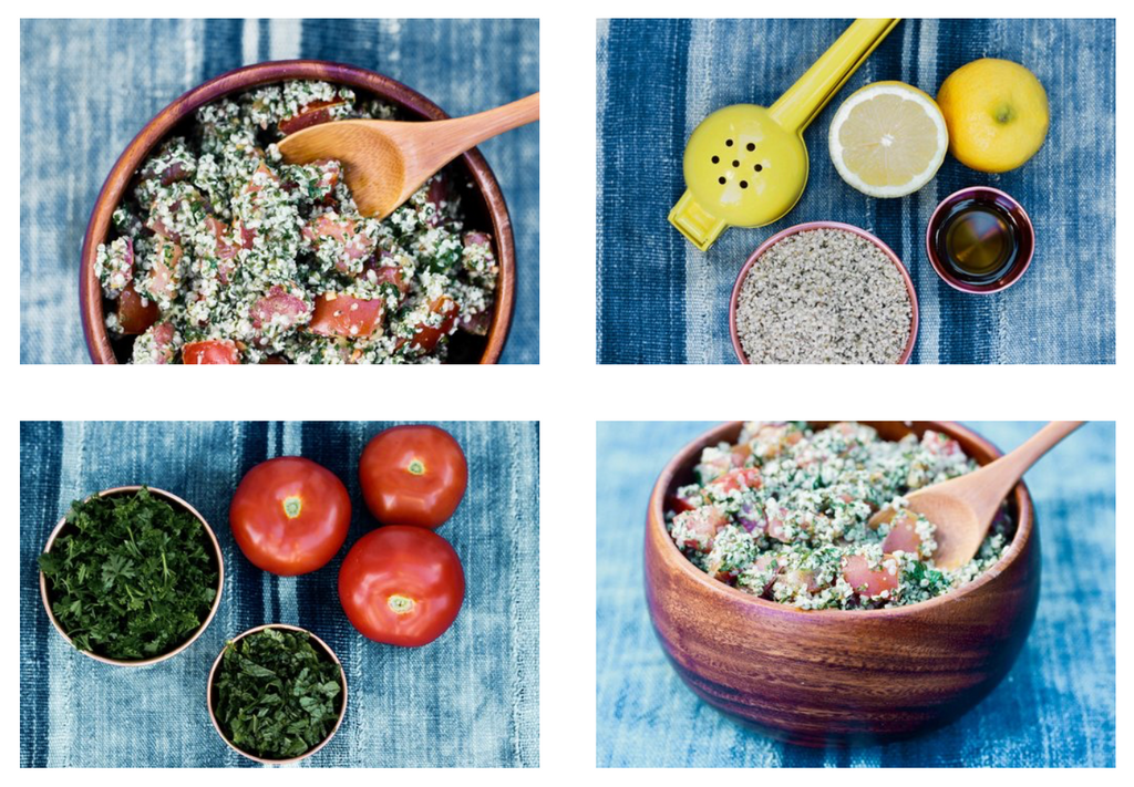 Hemp Seed Tabbouleh ingredients and recipe
