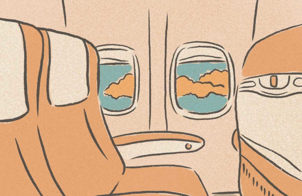 seats on an airplane drawing, can you fly with CBD?