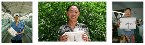 Anact Hemp towel manufacturer employees in China