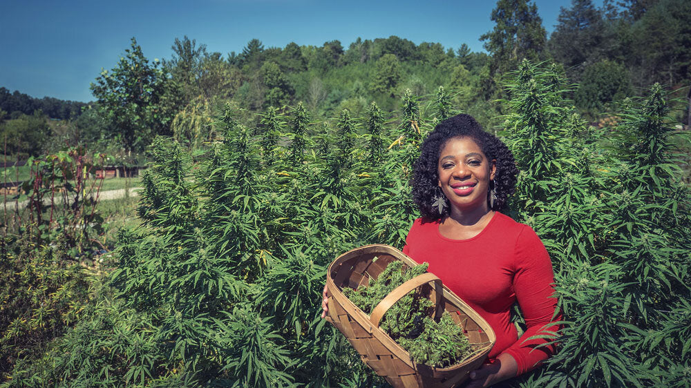 Farmer Cee at Green Heffa Hemp Farm for Hemp History Week
