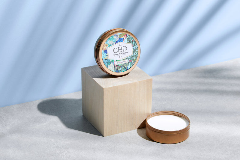 Shea Brand CBD Natural Pain Reliever open container view by Svn Space.