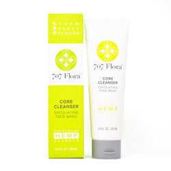 707 Flora Core Cleanser Exfoliating Face Wash 10mg CBD full front view by Svn Space.