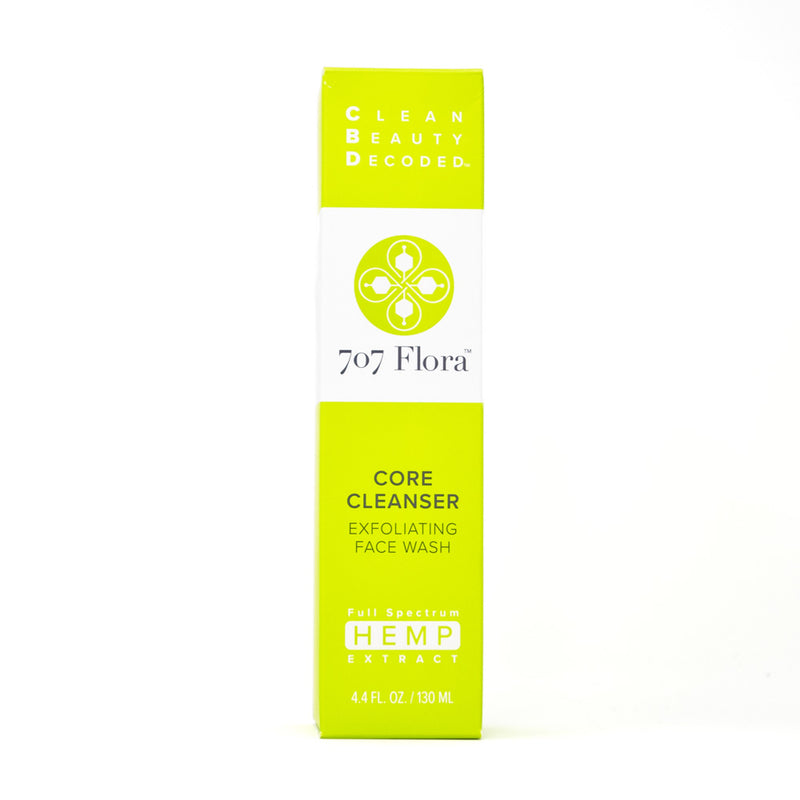 707 Flora Core Cleanser Exfoliating Face Wash 10mg CBD front view by Svn Space.