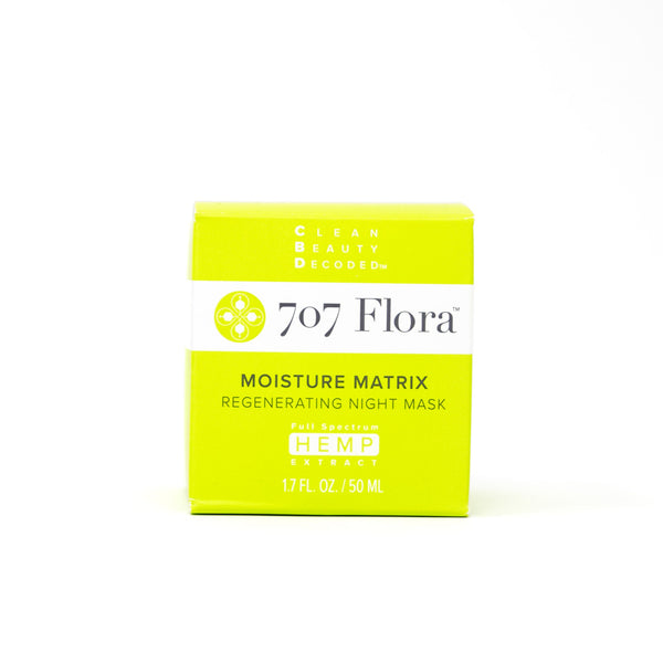 707 Flora Moisture Matrix 40mg CBD Regenerating Night Mask front view by Svn Space.