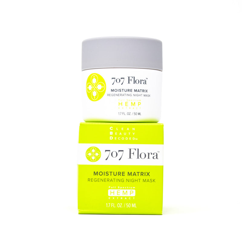 707 Flora Moisture Matrix 40mg CBD Regenerating Night Mask full front view by Svn Space.