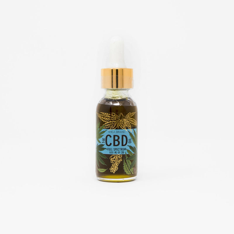 Shea Brand CBD Full Spectrum Oil Drops bottle view by Svn Space.