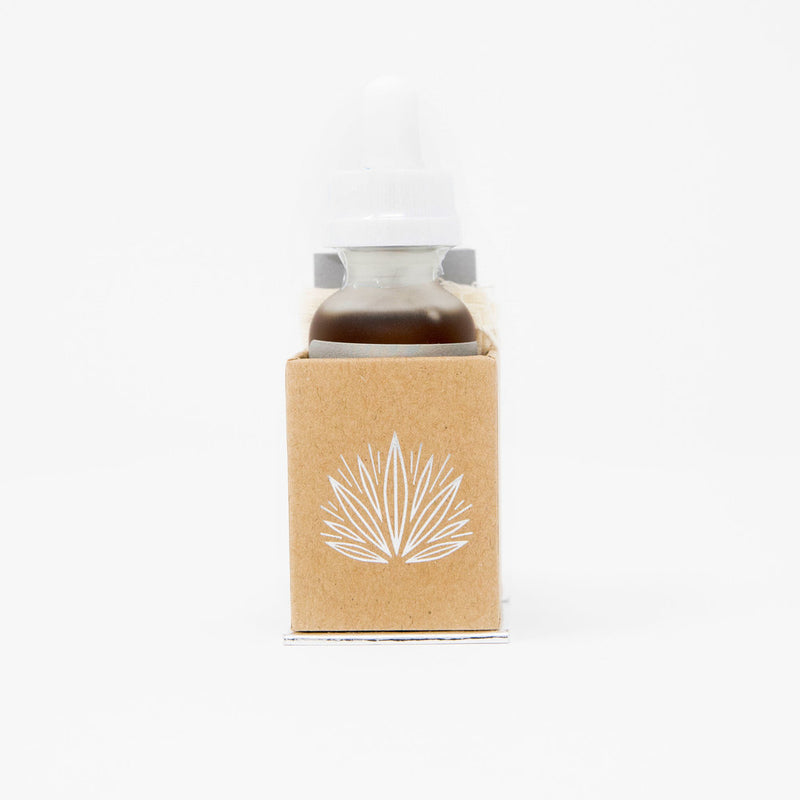 Bloom Farms Relieve CBD Tincture view of bottle in box by Svn Space.