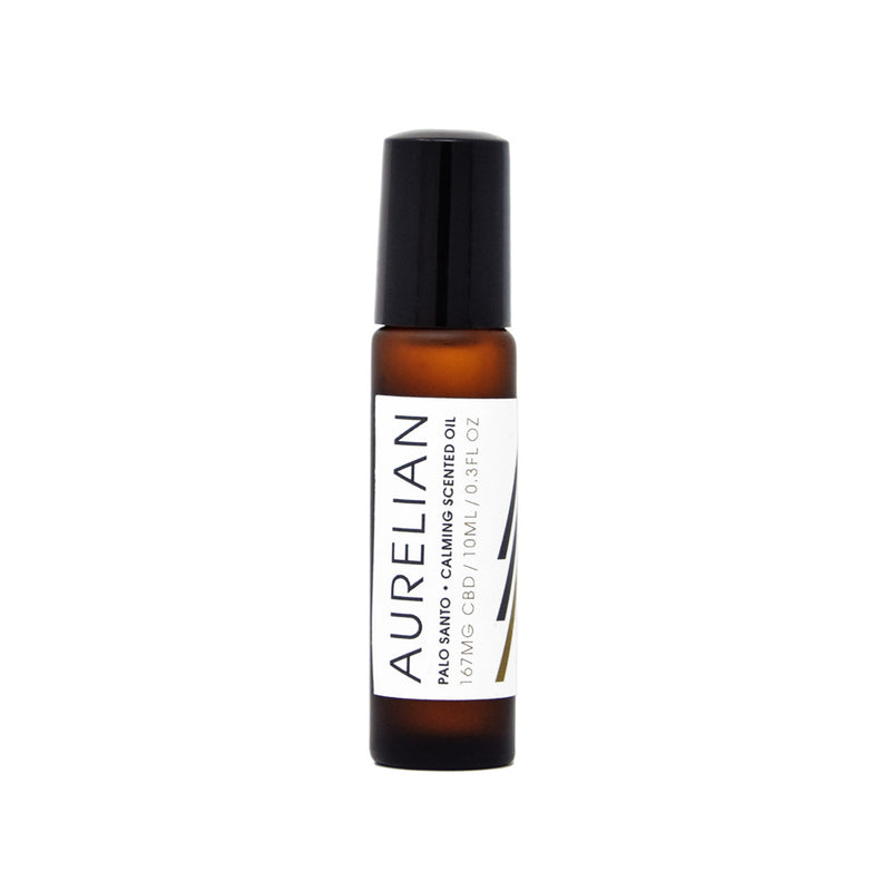 Aurelian Palo Santo Calming Scented Oil with 167mg CBD front view by Svn Space.