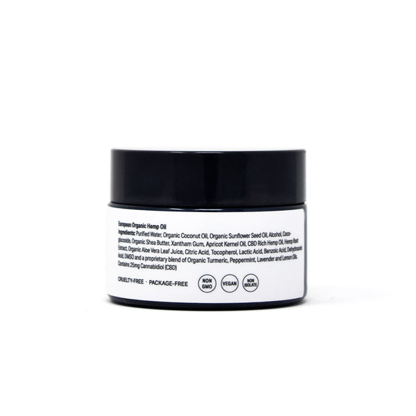 CBD+nature Relief Cream with 25mg CBD back view by Svn Space