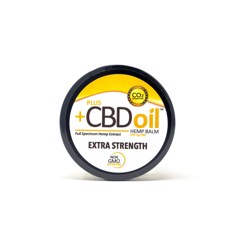 PlusCBD Oil™ Extra Strength Balm Top Cap Label