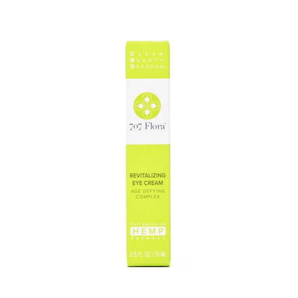 707 Flora Revitalizing CBD Eye Cream with 15mg CBD front view by Svn Space.