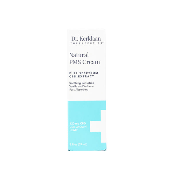 Dr. Kerklaan Natural PMS Cream with 120mg CBD front view by Svn Space.