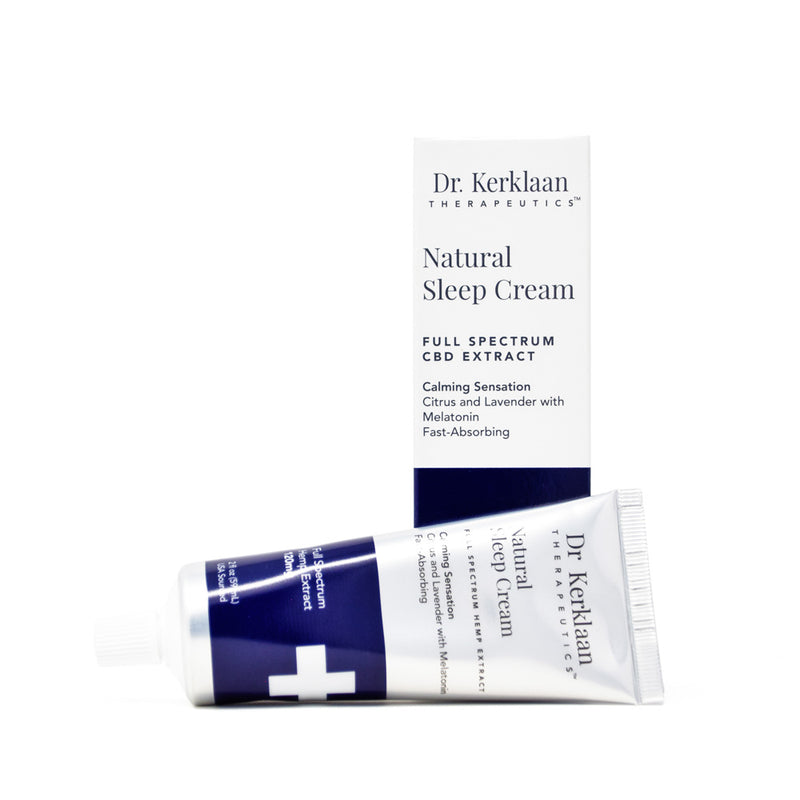 Dr. Kerklaan Natural Sleep Cream with 120mg CBD full front view by Svn Space