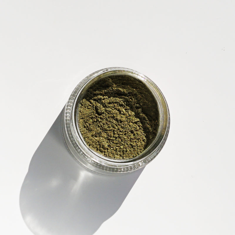 Loden Hemp + French Clay Mask with 100mg CBD open jar showing product by Svn Space.