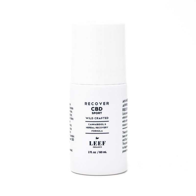 Leef Organics Recover CBD Roll-on with 200mg CBD front view by Svn Space.