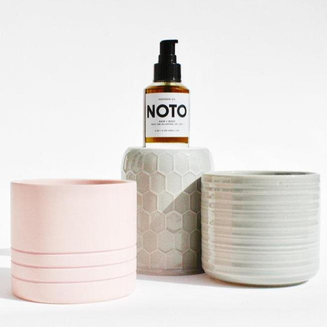 Noto Agender Hemp Seed Oil, front bottle view by Svn Space.