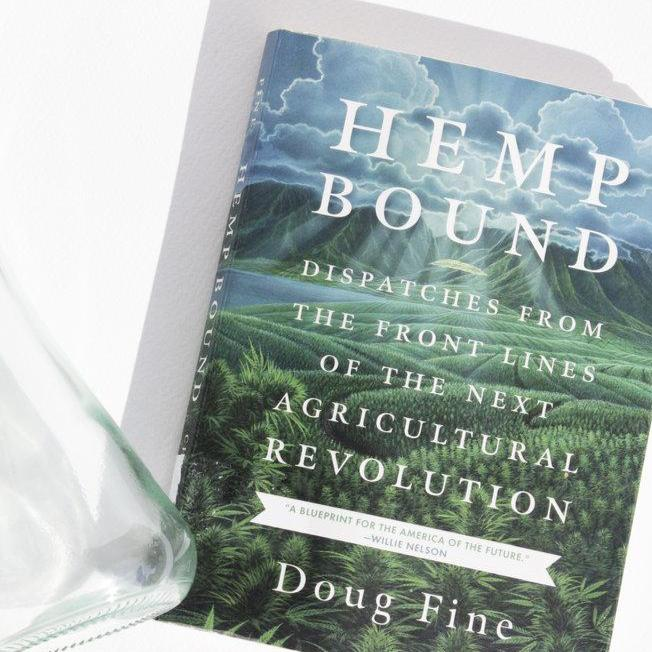 Hemp Bound: Dispatches From The Front Lines of the Next Agricultural Revolution by Doug Fine lifestyle shot by Svn Space.