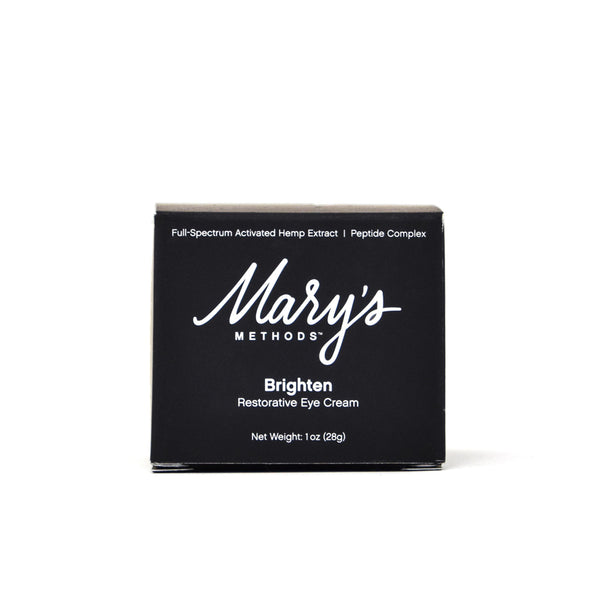 Mary's Methods Brighten Restorative Eye Cream with 50mg CBD front view by Svn Space.