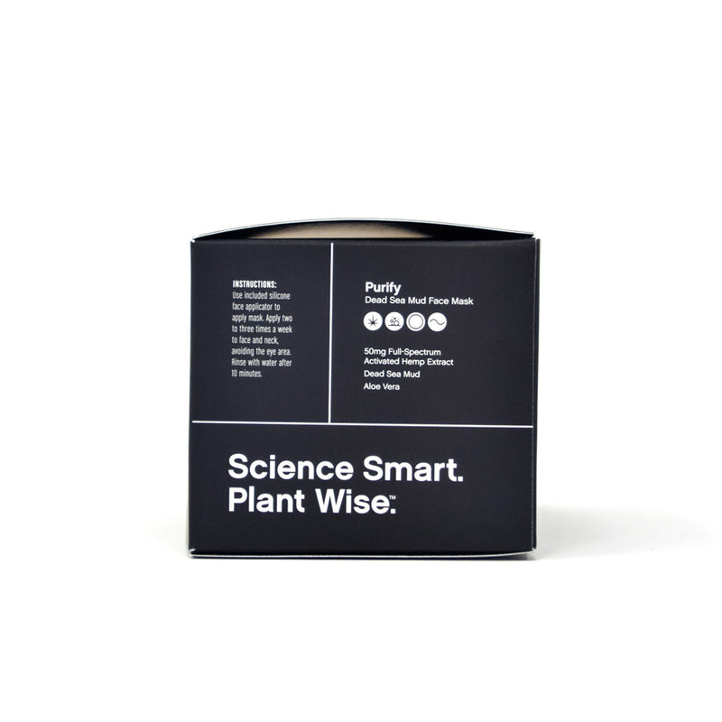 Mary's Purify Dead Sea Mud Mask with 50mg CBD side view by Svn Space.