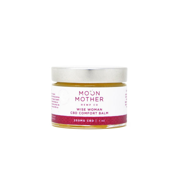 Moon Mother Wise Woman CBD Comfort Balm with 200mg CBD front view by Svn Space.