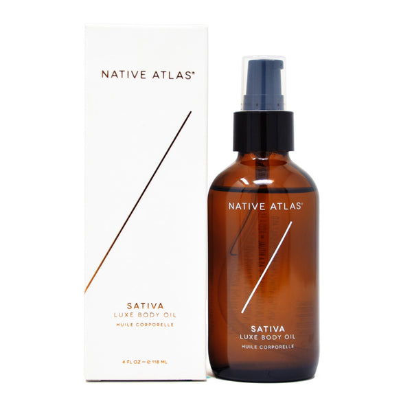 Native Atlas Luxe Body Oil with Hemp Seed Oil full front view by Svn Space.