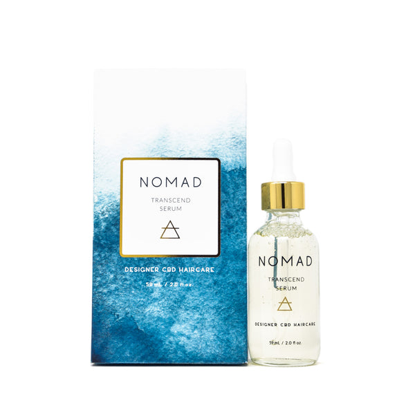 Nomad Haircare Transcend CBD Hair Serum full front view by Svn Space.