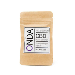 Onda CBD Oil Capsules 10mg front view by Svn Space.