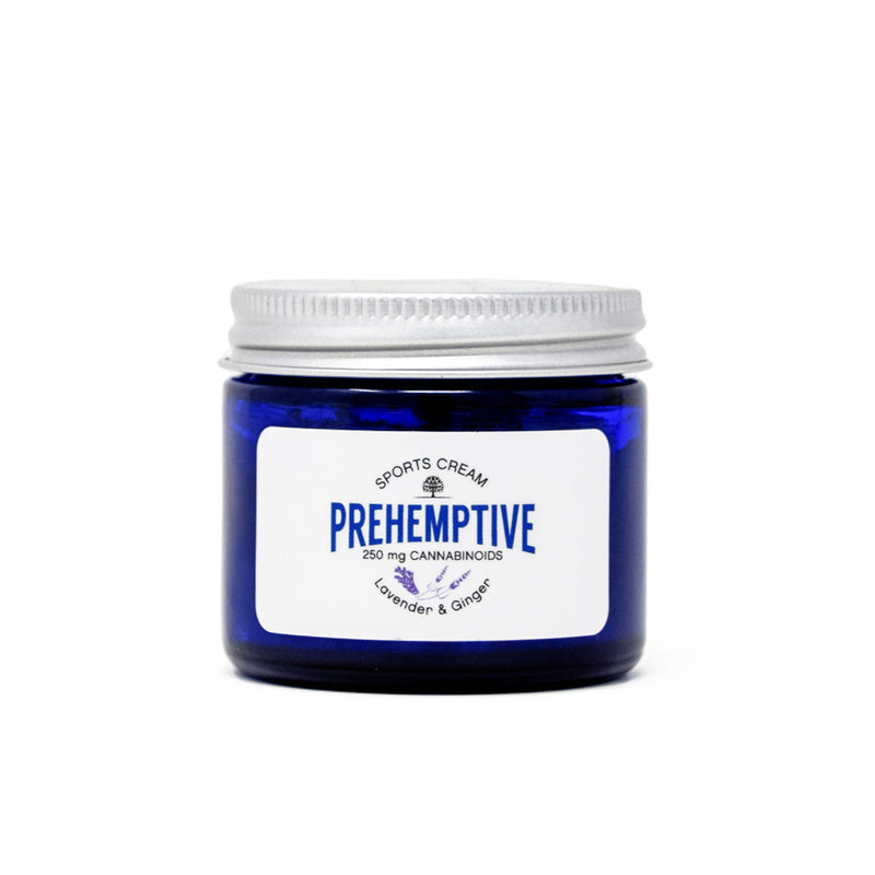 Prehemptive Lavender and Ginger Sports Cream with 250mg CBD front view by Svn Space