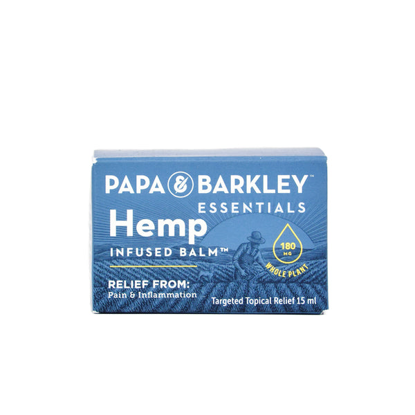 Papa & Barkley Hemp Infused Balm with 180mg CBD front view by Svn Space.