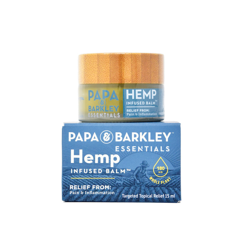 Papa & Barkley Hemp Infused Balm with 180mg CBD full front view by Svn Space.