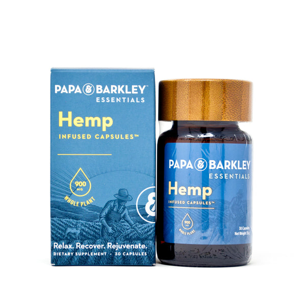 Papa & Barkley Releaf Capsules with 900mg CBD full front view by Svn Space.