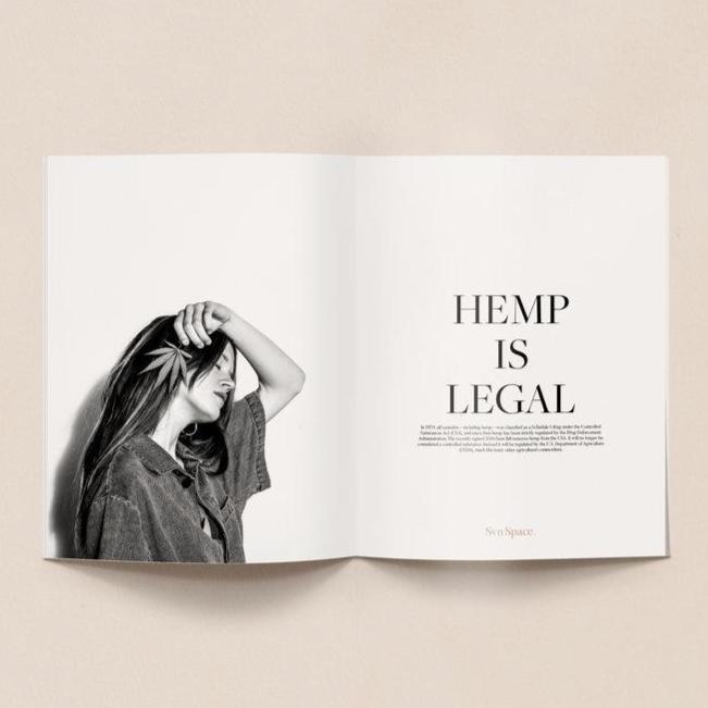 Svn Space Hemp + CBD Print Issue 001 Hemp Is Legal Spread.