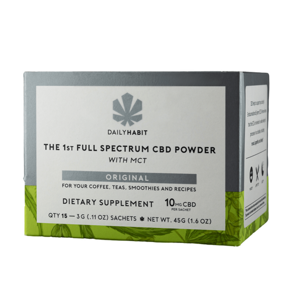 Daily Habit CBD Powder – 15 Single Servings