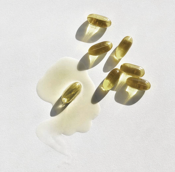 Tonik Organic Hemp Seed Oil Capsules styled shot of capsules by Svn Space.