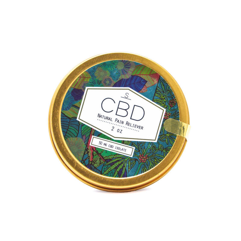 Shea Brand CBD Natural Pain Reliever front view by Svn Space.