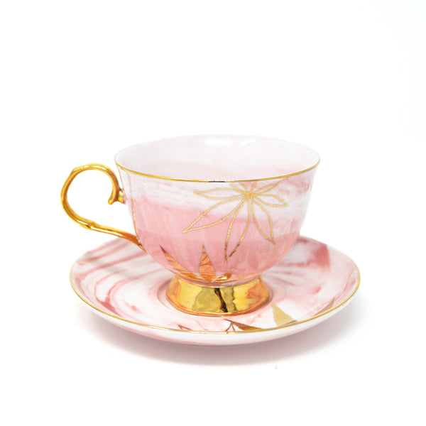Fashionably High Tea Cup and Saucer Set front view by Svn Space.