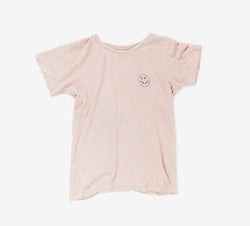 I Heart Hemp T-shirt in pink front view by Svn Space.