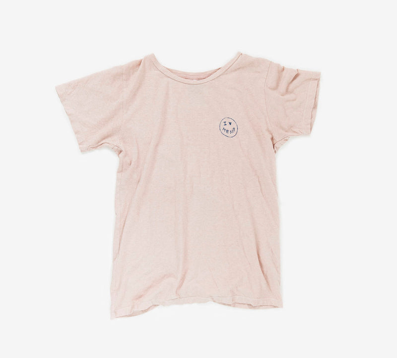 I Heart Hemp T-shirt in pink by Svn Space