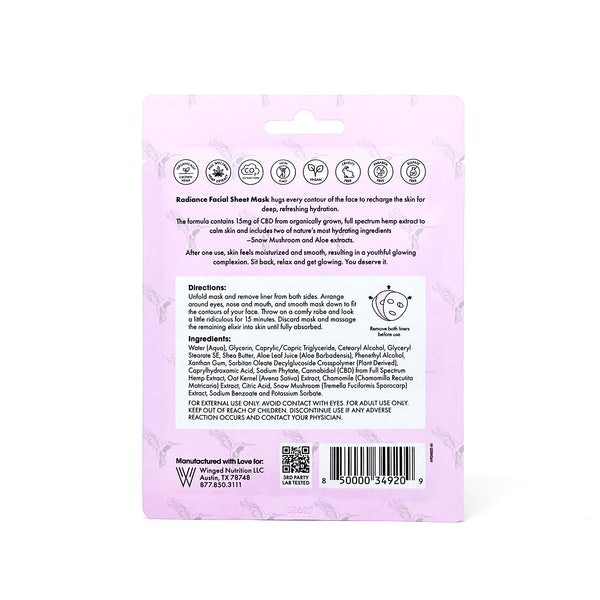 Radiance Facial Sheet Mask