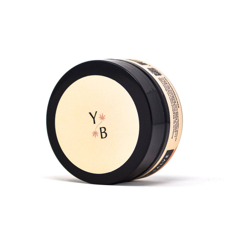 Yuyo Botanics Turmeric Hemp Salve with 100mg CBD top view by Svn Space.