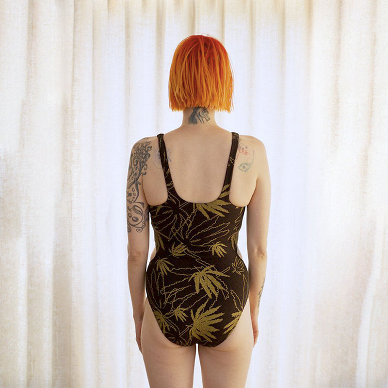 Golden Hemp One Piece Swimsuit