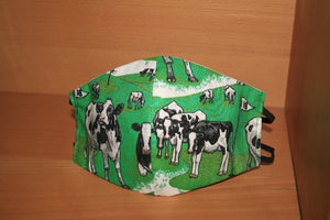 Cows on Golf Course - Face Mask Vogue