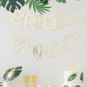 Gold Bridal Shower Garland