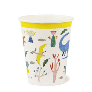 Eco friendly recyclable Dinosaur party cups..