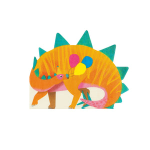 dinosaur shaped napkin for a dinosaur themed party