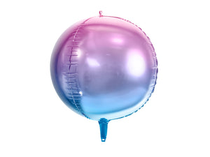 round pink and blue ombre helium balloons for mermaid themed birthday party for girls and boys party or birthday parties from la di dah