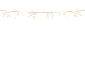 Mistletoe Wooden Garland