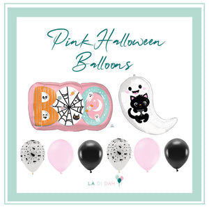 Pink Halloween Balloon Bundle