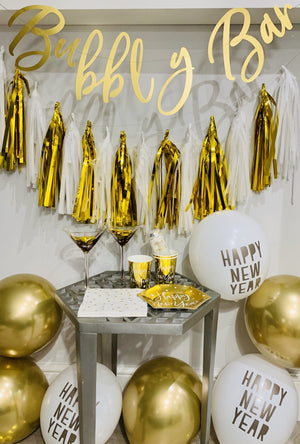 White gold New Year Party Box
