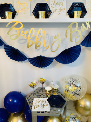 Navy & Gold New Year Party Box